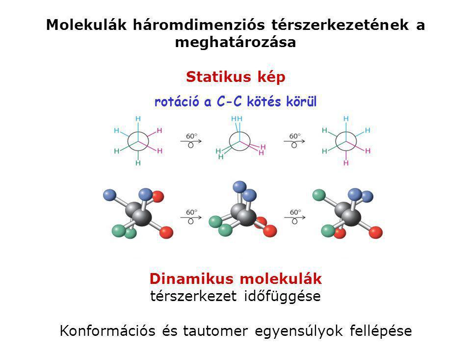 Molekulák háromdimenziós térszerkezetének a meghatározása