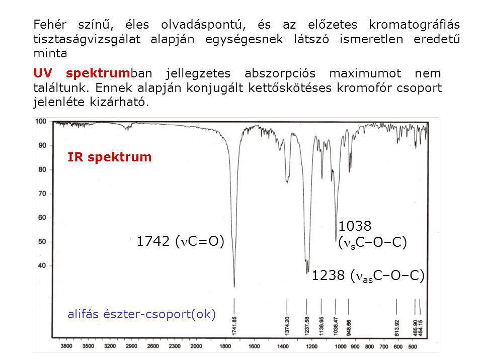 1038 (sC–O–C) 1742 (C=O) 1238 (asC–O–C)