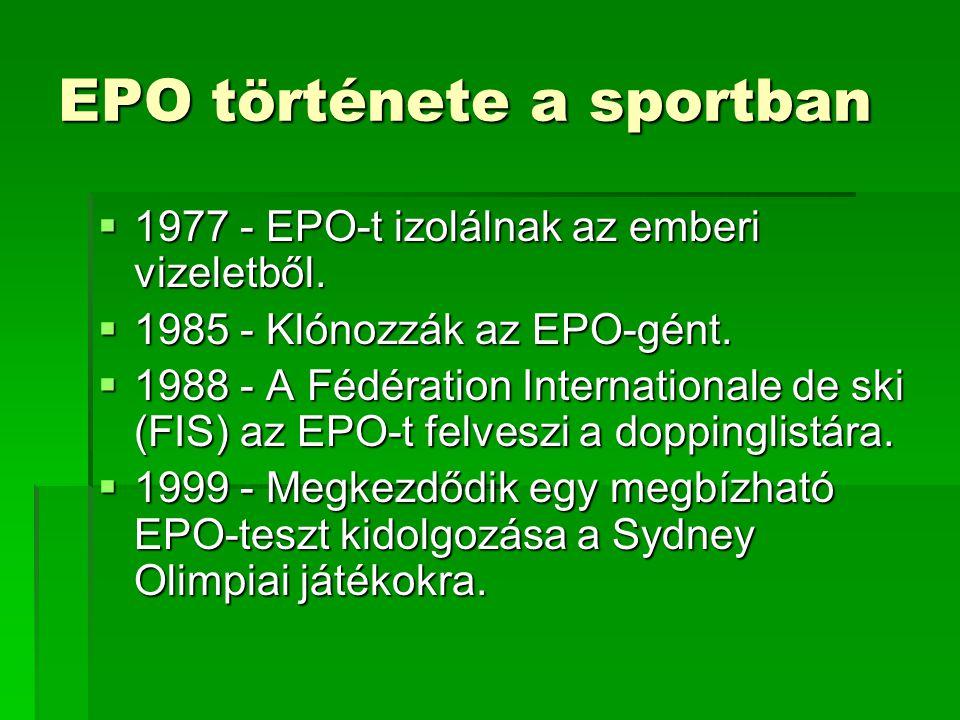 EPO története a sportban