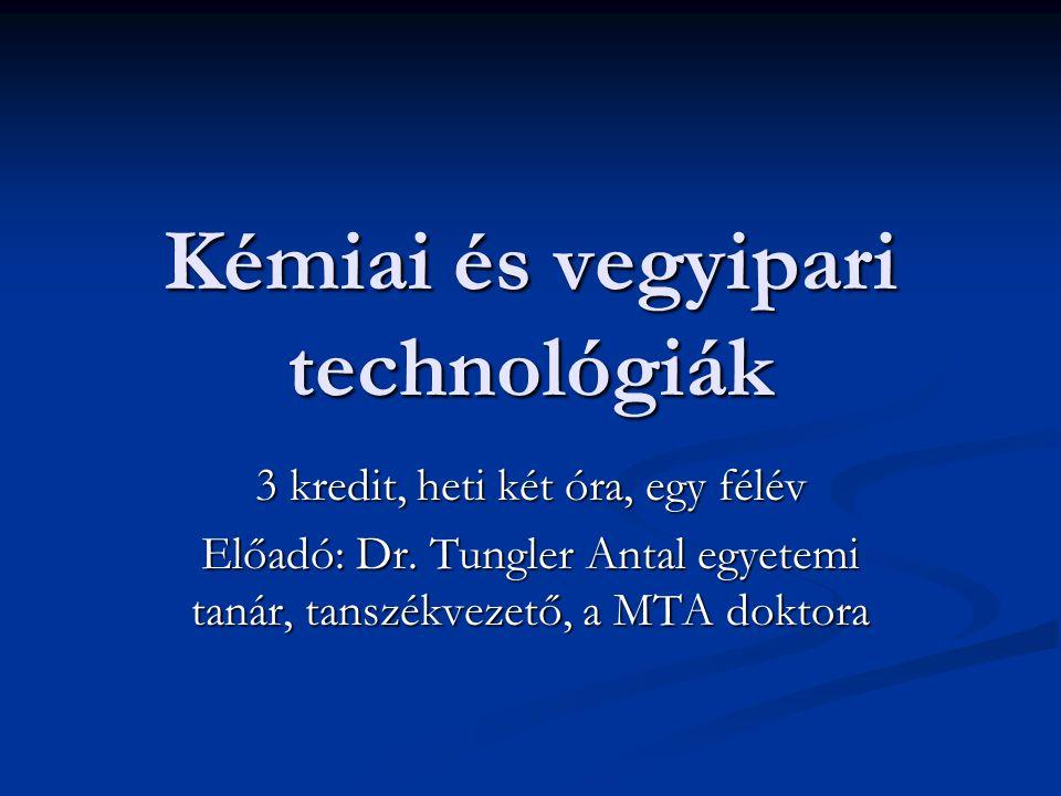 Kémiai és vegyipari technológiák