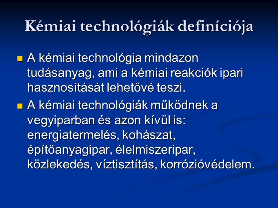 Kémiai technológiák definíciója