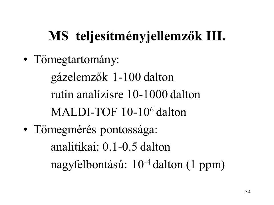 MS teljesítményjellemzők III.