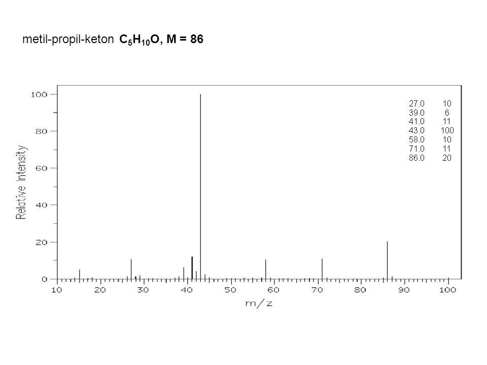 metil-propil-keton C5H10O, M = 86