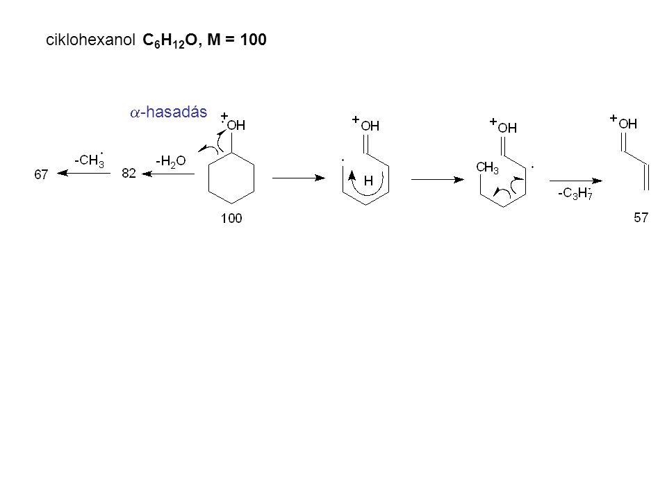 ciklohexanol C6H12O, M = 100 a-hasadás