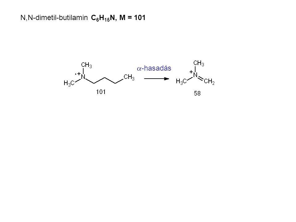 N,N-dimetil-butilamin C6H15N, M = 101