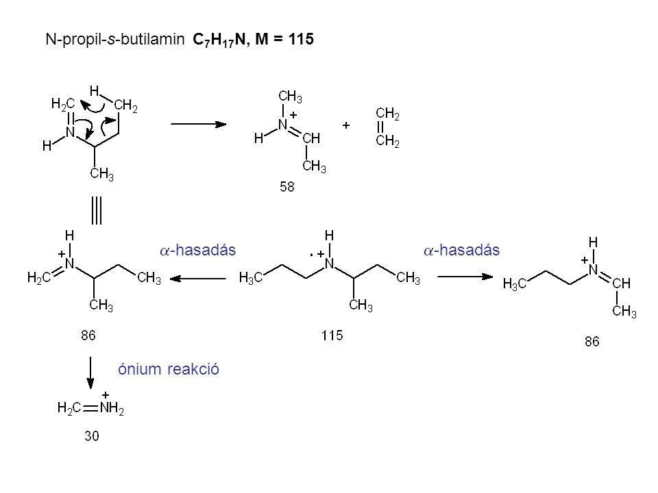 N-propil-s-butilamin C7H17N, M = 115
