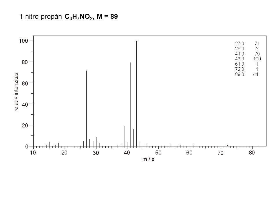 1-nitro-propán C3H7NO2, M = 89