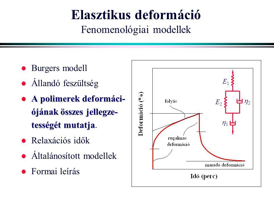 Elasztikus deformáció Fenomenológiai modellek