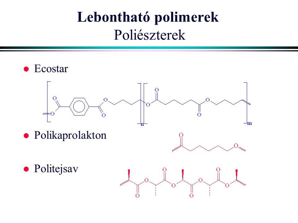 Lebontható polimerek Poliészterek