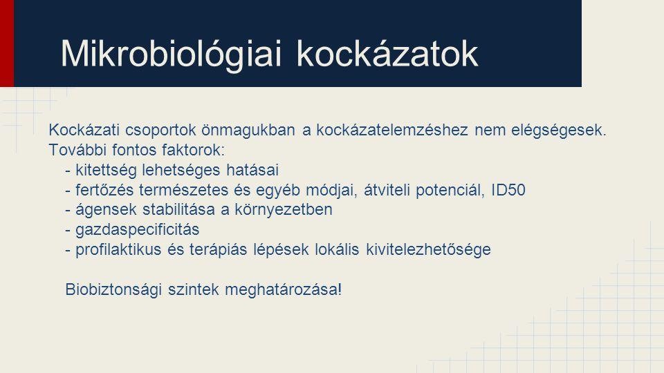 Mikrobiológiai kockázatok