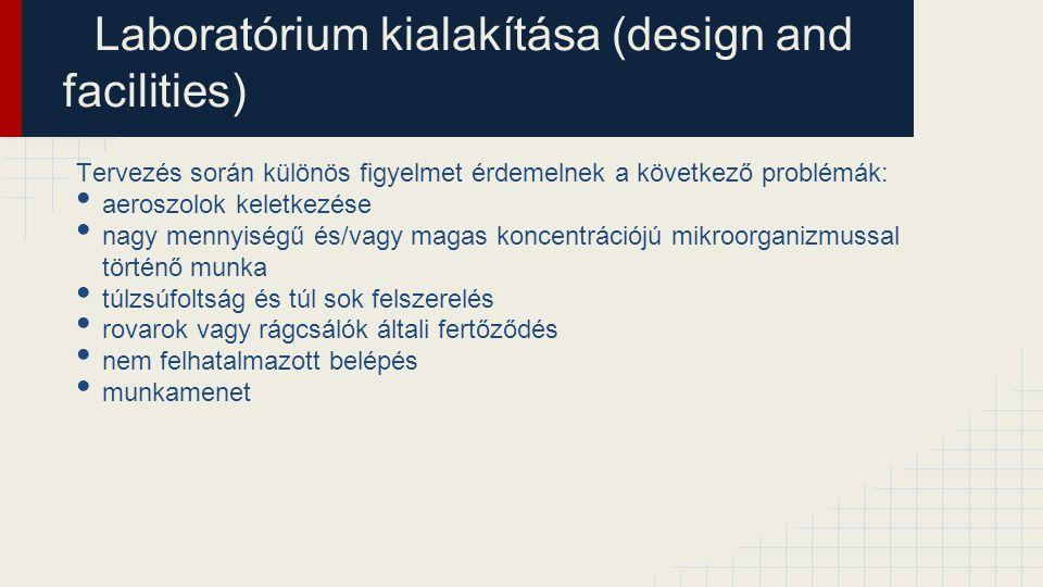 Laboratórium kialakítása (design and facilities)