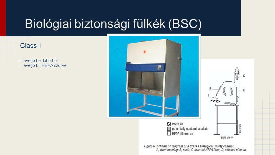 Biológiai biztonsági fülkék (BSC)
