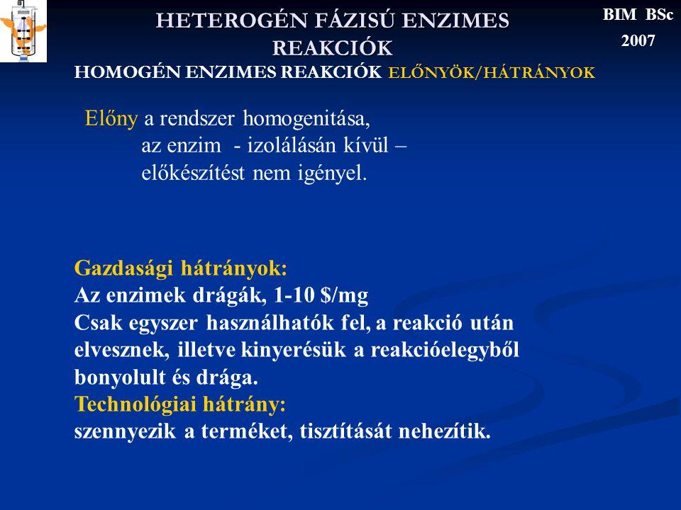 HETEROGÉN FÁZISÚ ENZIMES REAKCIÓK