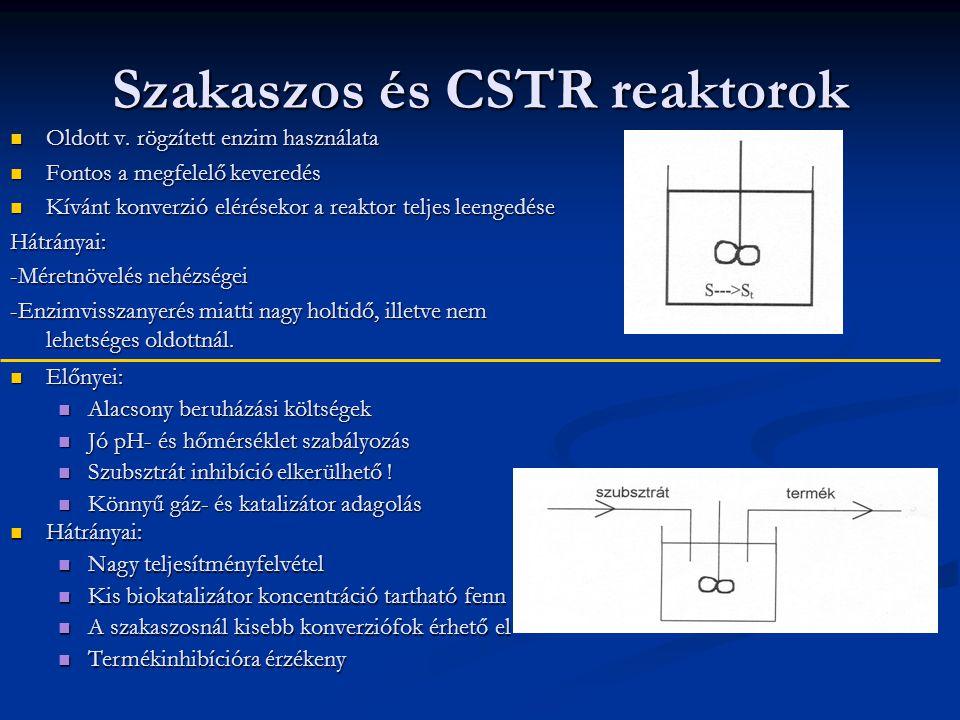 Szakaszos és CSTR reaktorok