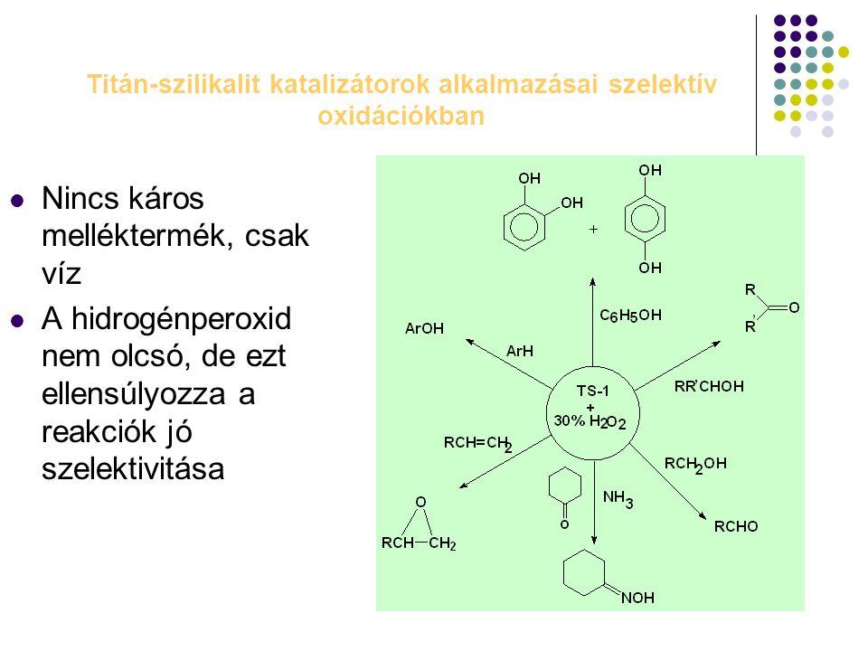 Titán-szilikalit katalizátorok alkalmazásai szelektív oxidációkban
