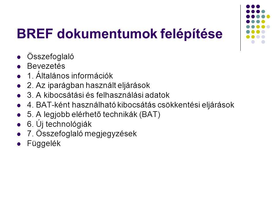 BREF dokumentumok felépítése