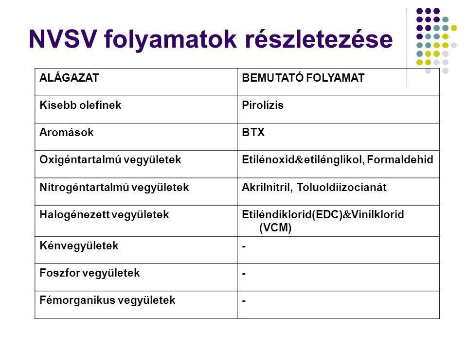 NVSV folyamatok részletezése