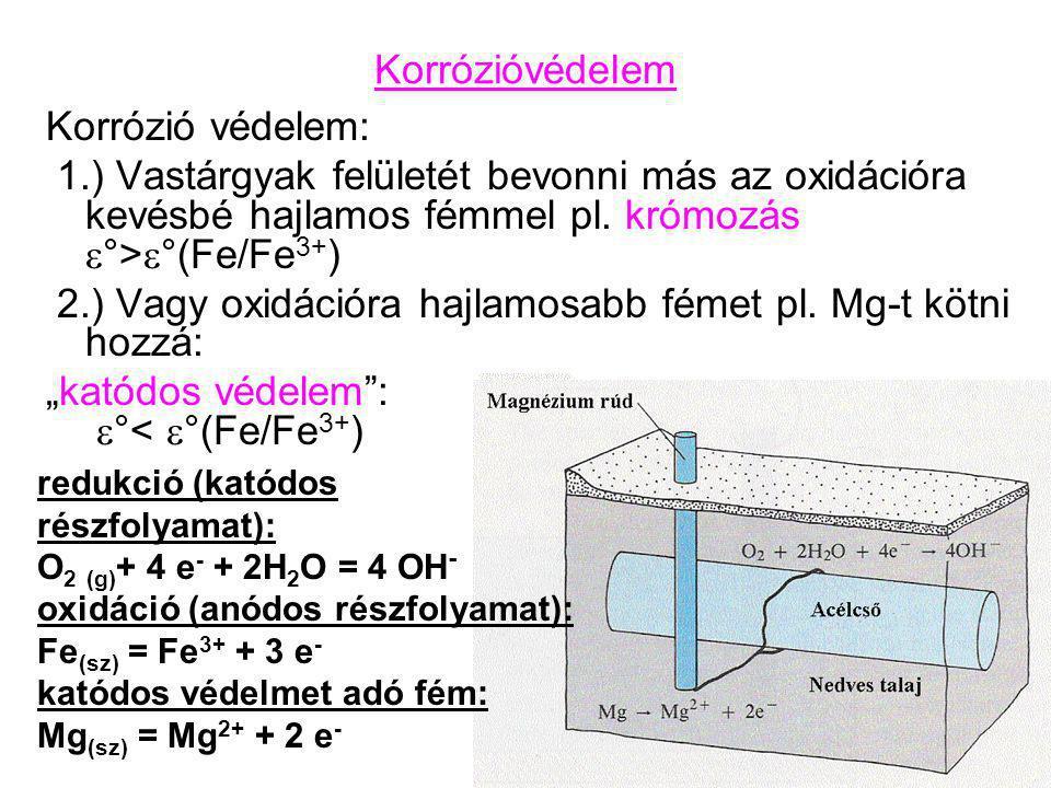 2.) Vagy oxidációra hajlamosabb fémet pl. Mg-t kötni hozzá: