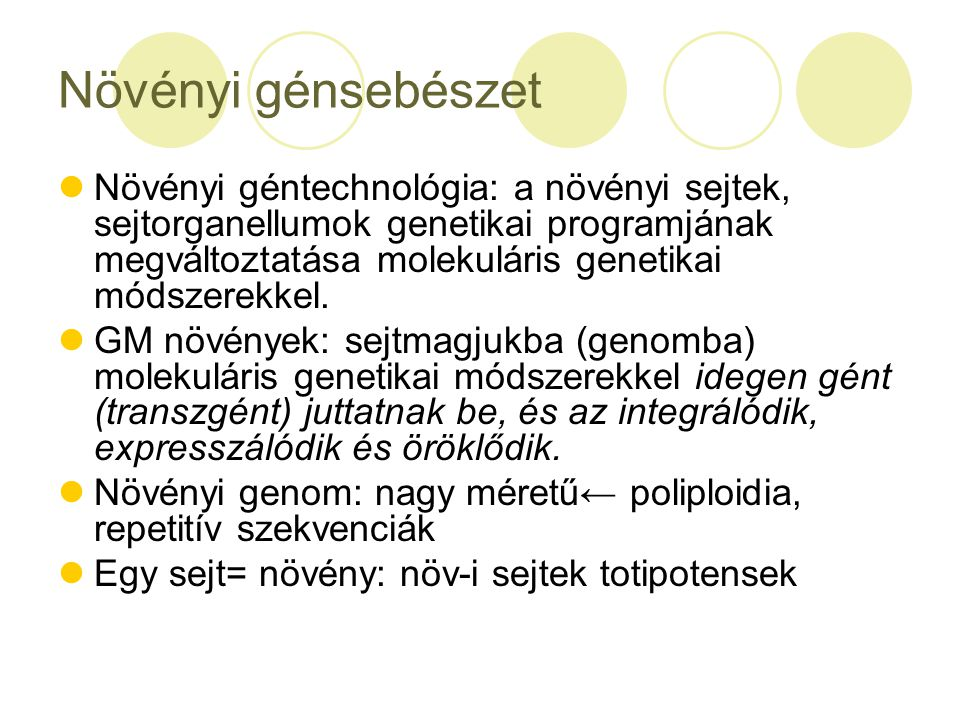 Növényi génsebészet