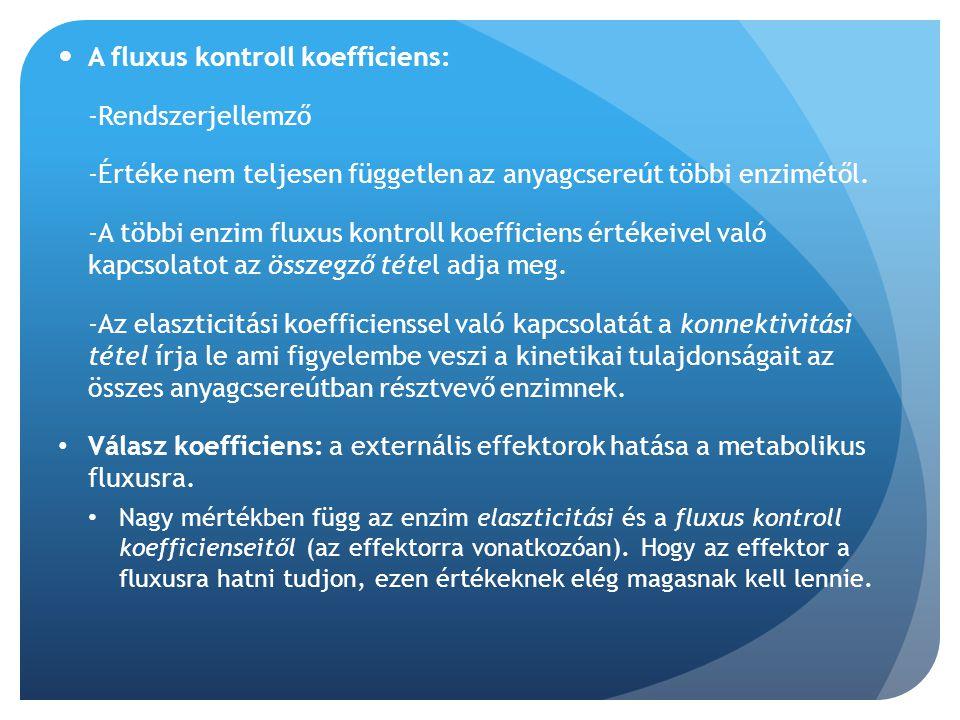 A fluxus kontroll koefficiens: -Rendszerjellemző
