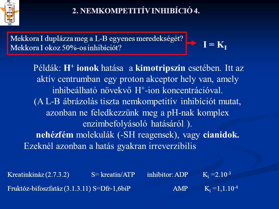 2. NEMKOMPETITÍV INHIBÍCIÓ 4.
