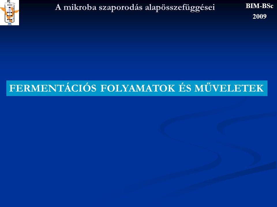 A mikroba szaporodás alapösszefüggései