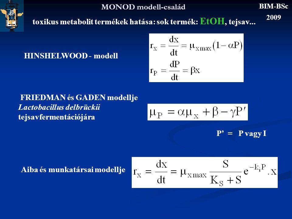 toxikus metabolit termékek hatása: sok termék: EtOH, tejsav...
