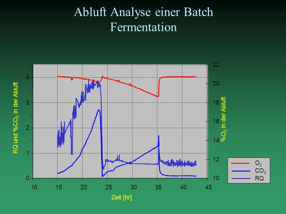 Abluft Analyse einer Batch Fermentation