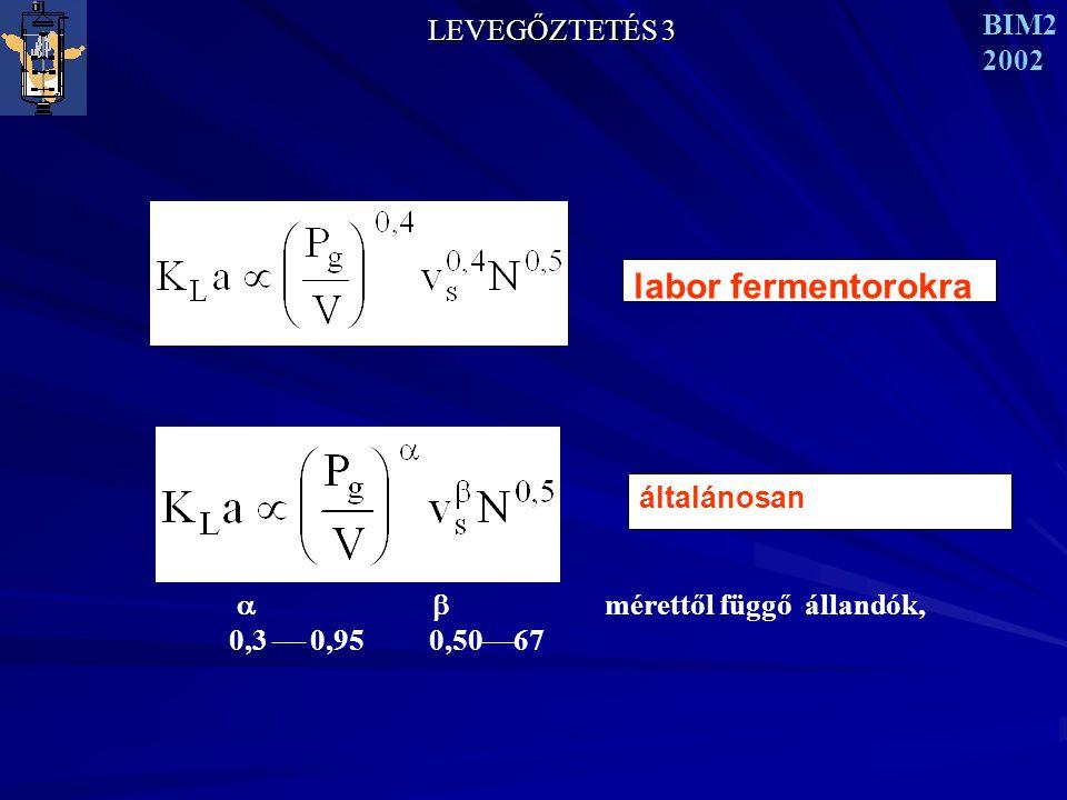 labor fermentorokra LEVEGŐZTETÉS 3 BIM2 2002 általánosan