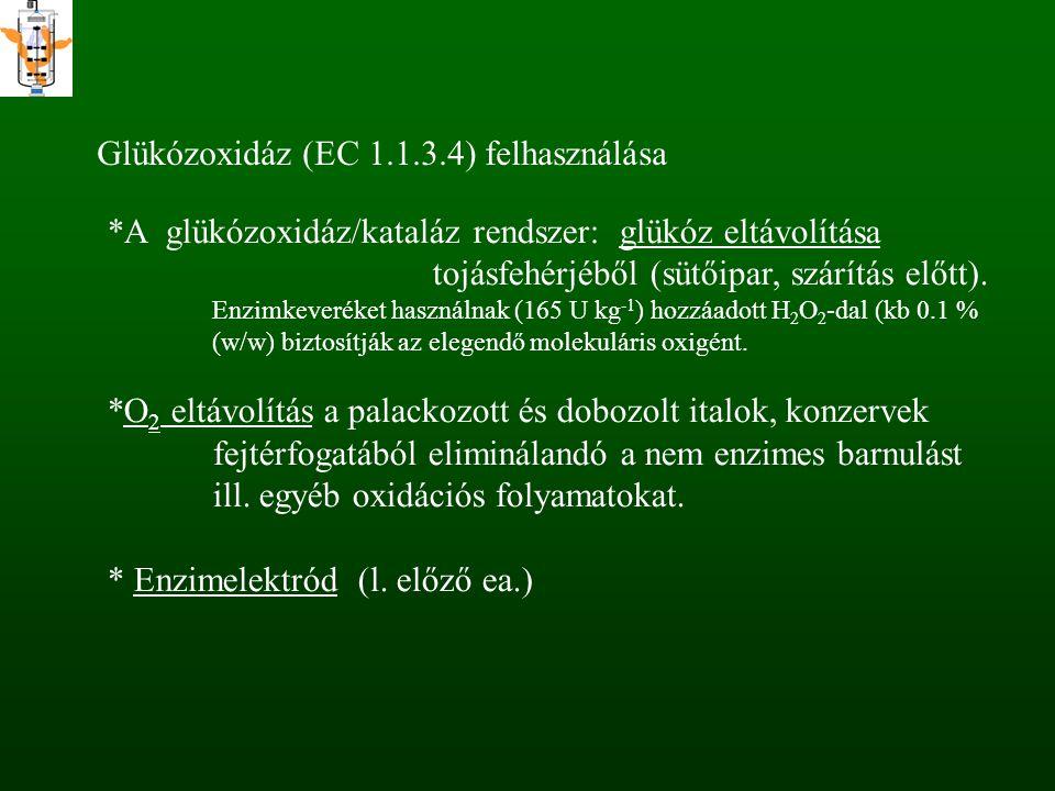 Glükózoxidáz (EC 1.1.3.4) felhasználása