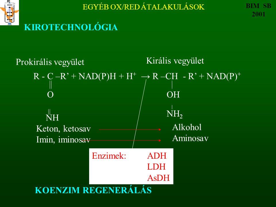 EGYÉB OX/RED ÁTALAKULÁSOK