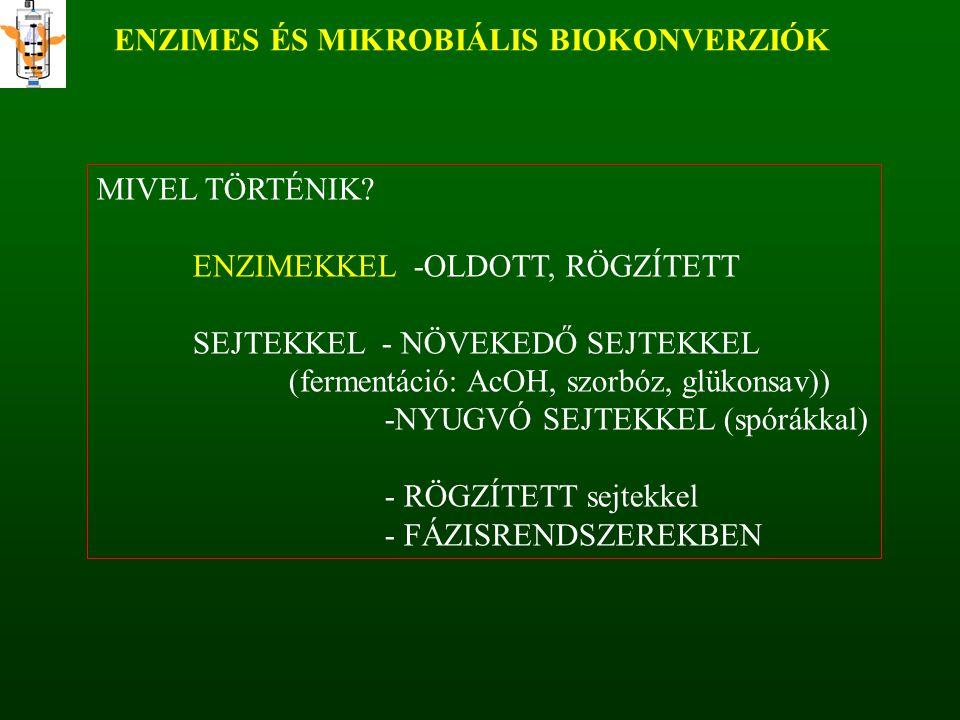 ENZIMES ÉS MIKROBIÁLIS BIOKONVERZIÓK