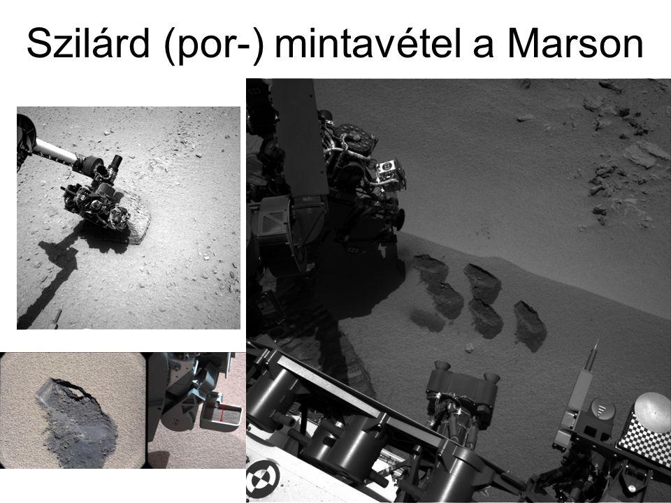 Szilárd (por-) mintavétel a Marson
