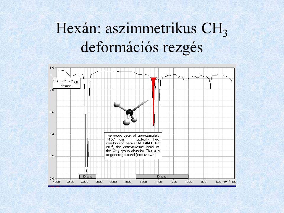 Hexán: aszimmetrikus CH3 deformációs rezgés