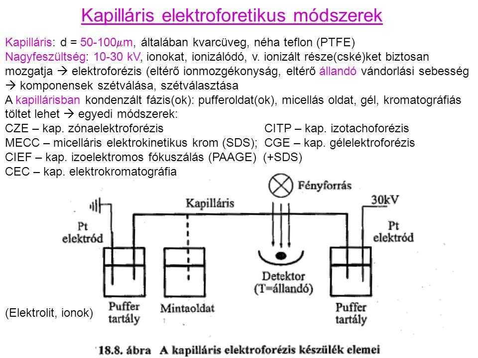 Kapilláris elektroforetikus módszerek