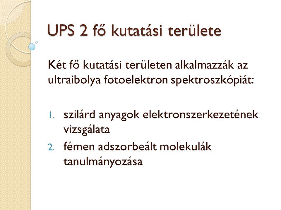 UPS 2 fő kutatási területe