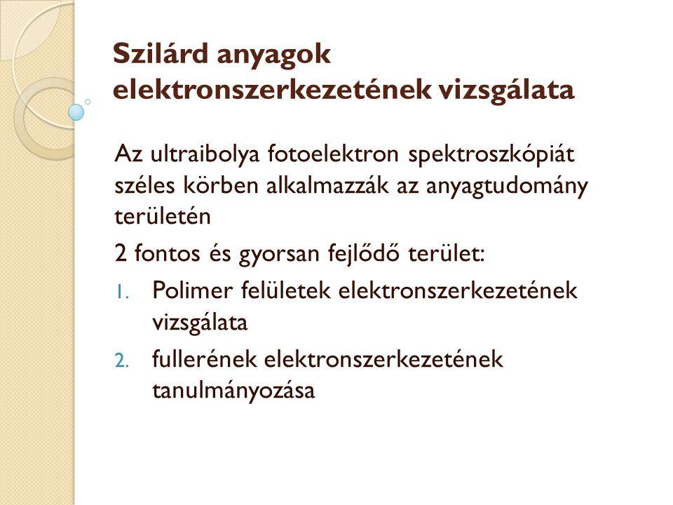 Szilárd anyagok elektronszerkezetének vizsgálata