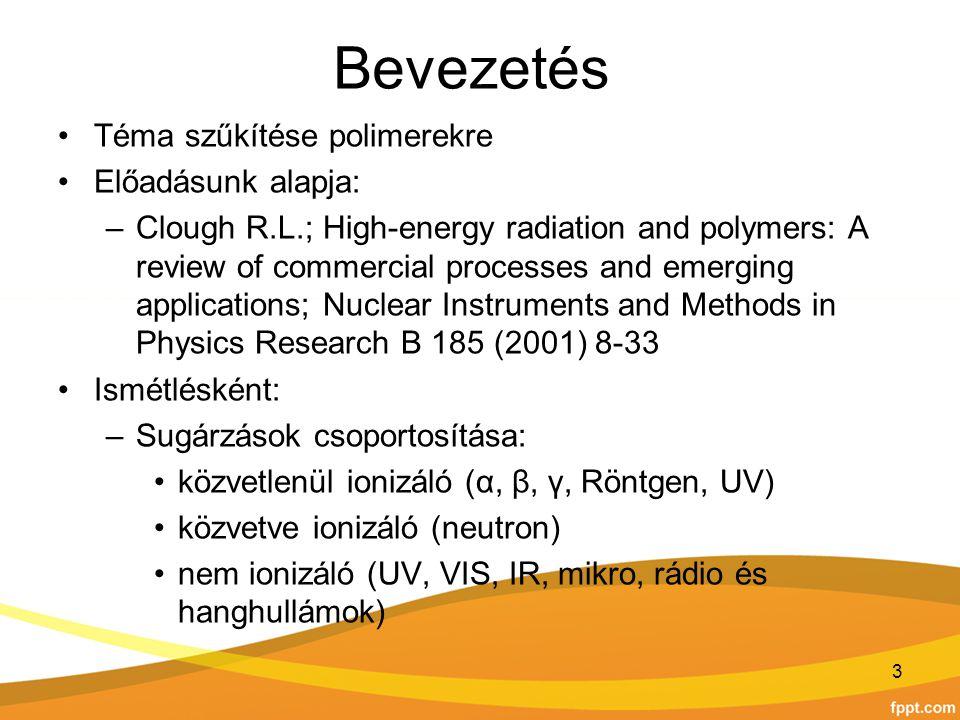 Bevezetés Téma szűkítése polimerekre Előadásunk alapja: