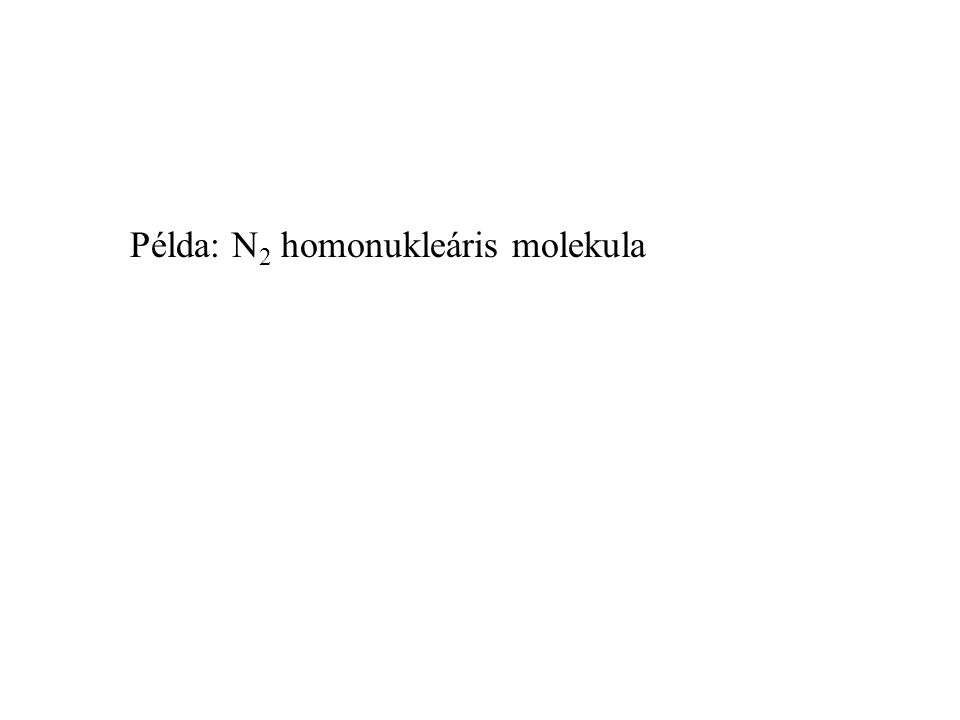 Példa: N2 homonukleáris molekula