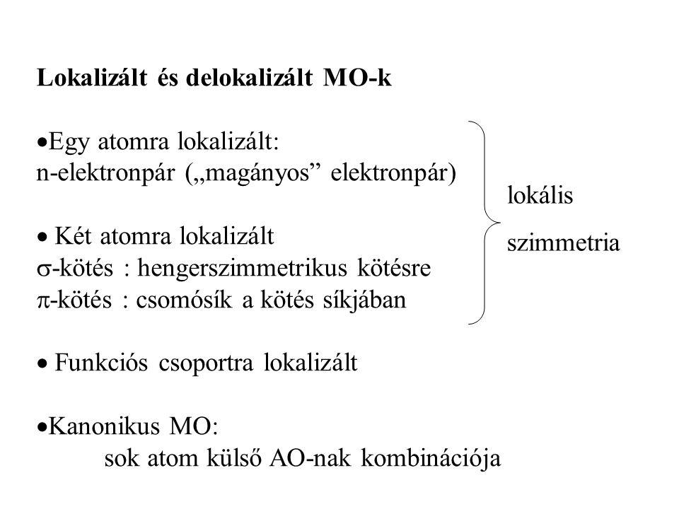 Lokalizált és delokalizált MO-k