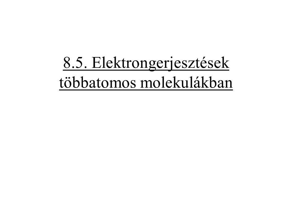 8.5. Elektrongerjesztések többatomos molekulákban