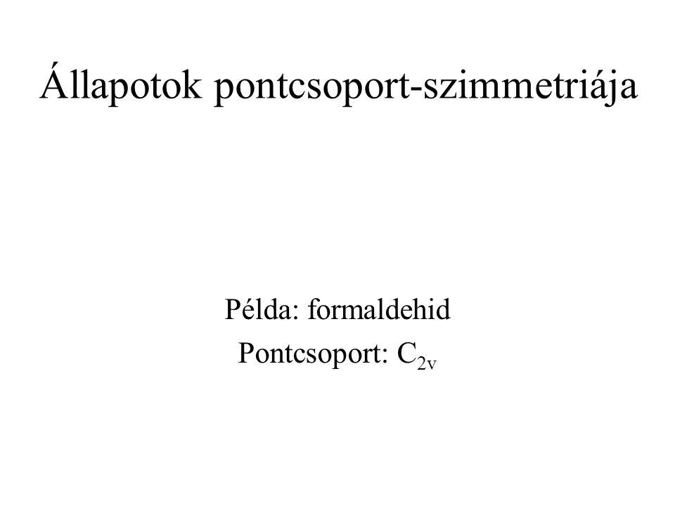 Állapotok pontcsoport-szimmetriája