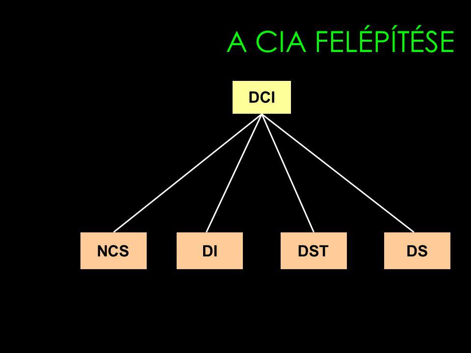 A CIA FELÉPÍTÉSE DCI NCS DI DST DS