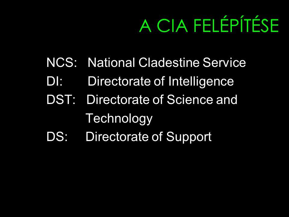 A CIA FELÉPÍTÉSE NCS: National Cladestine Service