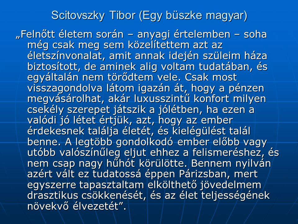 Scitovszky Tibor (Egy büszke magyar)
