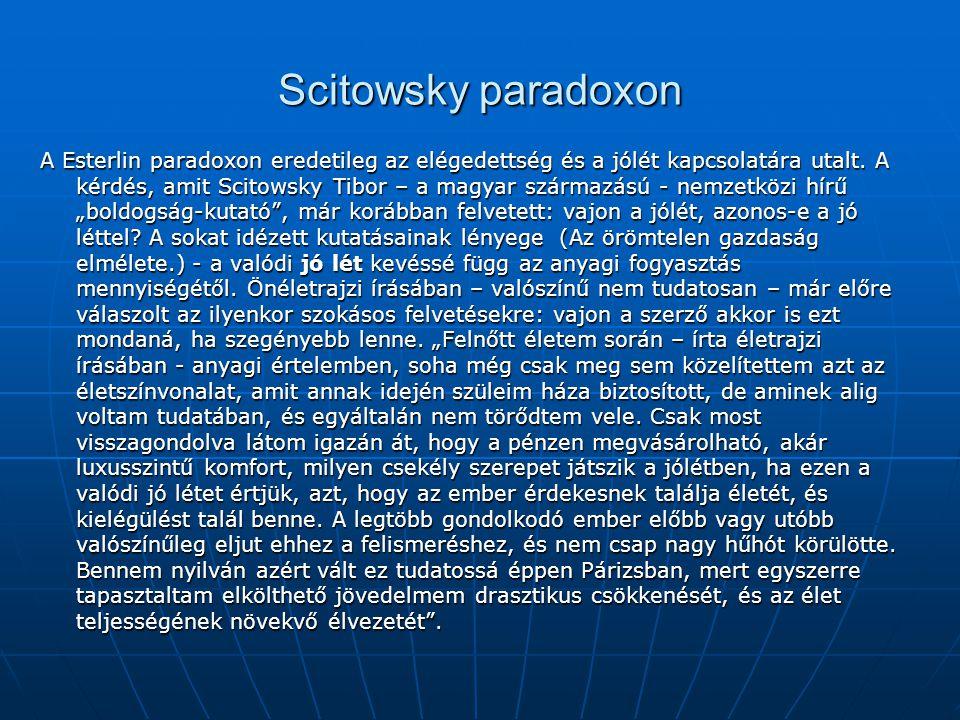 Scitowsky paradoxon
