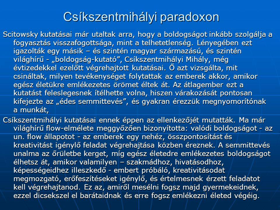 Csíkszentmihályi paradoxon