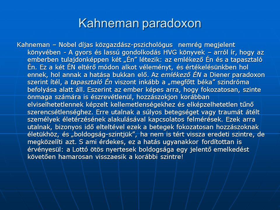 Kahneman paradoxon