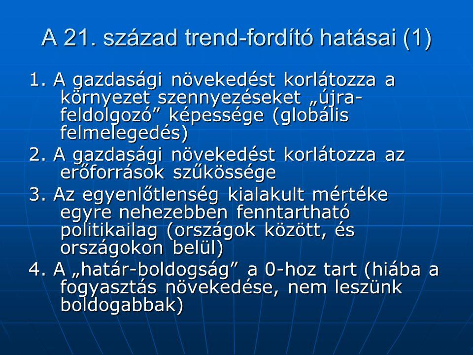A 21. század trend-fordító hatásai (1)