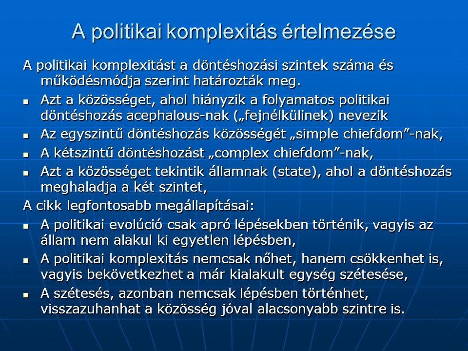 A politikai komplexitás értelmezése